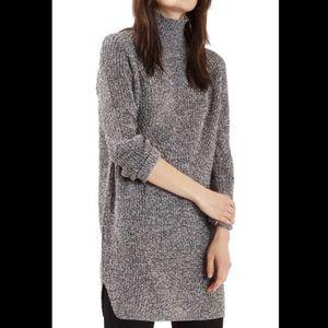 💖 Topshop Tunic Mock Turtleneck Sweater size 4